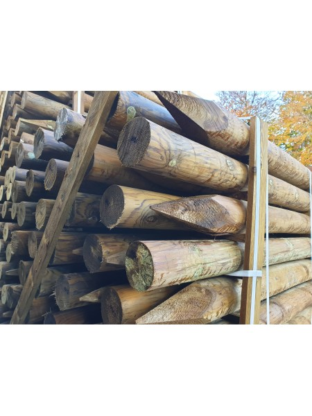 1.8m 15 Year Service Life Round Timber - Treated (100-125mm)