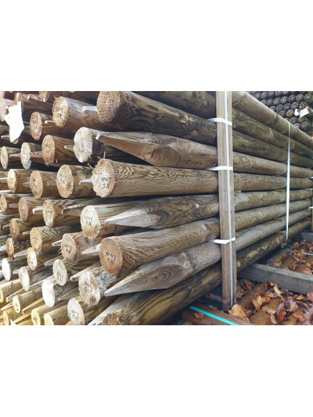 2.4m 15 Year Service Life Round Timber - Treated (75-100mm)