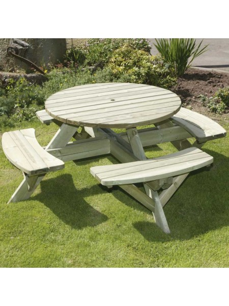 Hutton Round Picnic Table Supported