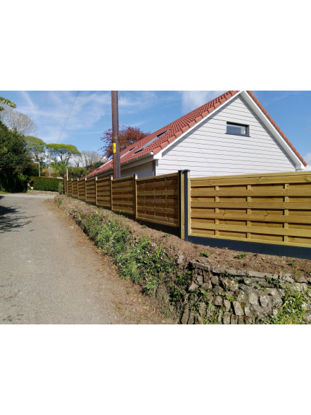 FENCEMATE DuraPost® Composite Gravel Board 1833mm - Anthracite Grey