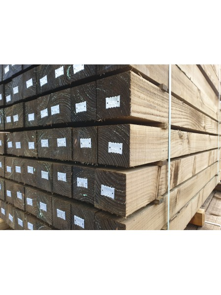 2.40m Sawn Treated Tagged UC4 100 x 100mm - 15 Year Service Life