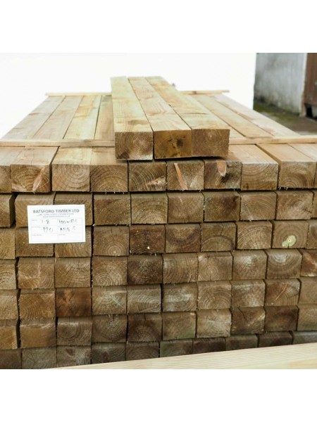 1.80m Sawn Treated 100 x 75mm