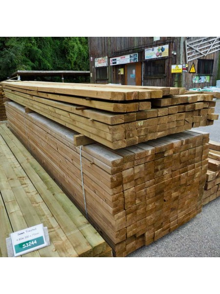 4.80m Eased Edge Treated ex100 x 47mm - C16