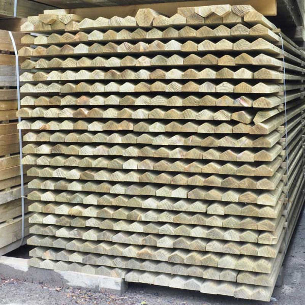 3.00m Capping Rail 65 x 38mm - 2 Way Weathered