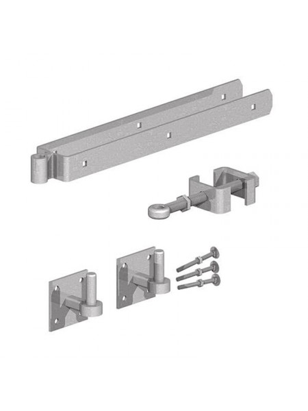 "Adjustable Gate Fitting Set - Hooks on plate 600mm (24"")"