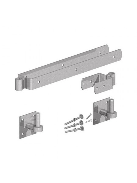 "Adjustable Hinge Set 300mm (12"") with Hooks on Plates"
