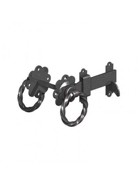 Twisted Ring Latch 150mm - Black