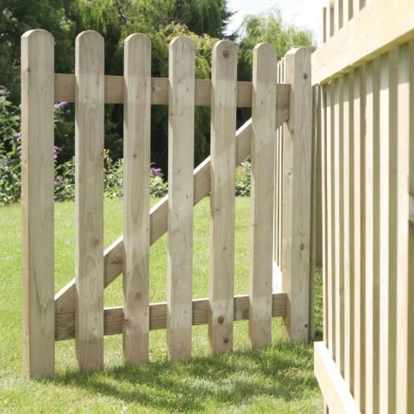 Pale Picket Gate (Framed) 0.9m (h) x 1.2m (w)