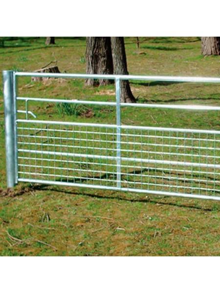 10ft  5 Rail Half Mesh Gate with Spring Bolt