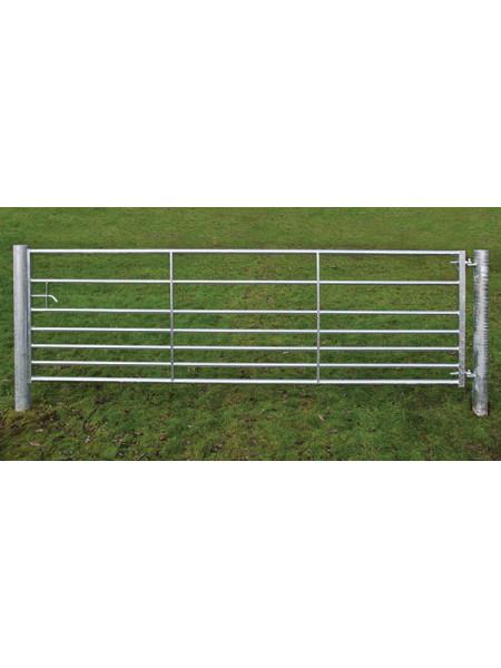 10ft 7 Rail Metal Gate Box Stile with Spring Bolt