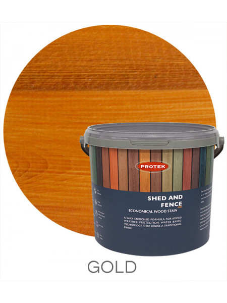 Protek Shed & Fence Gold 5L