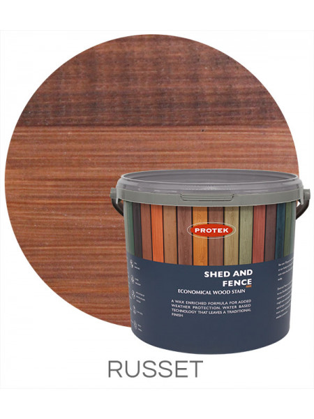 Protek Shed & Fence Russet 5L