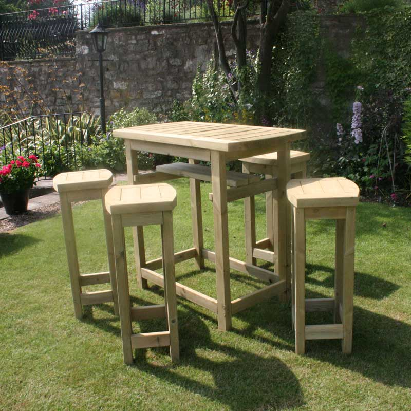 Hutton Cotswold High Table & Stools Set